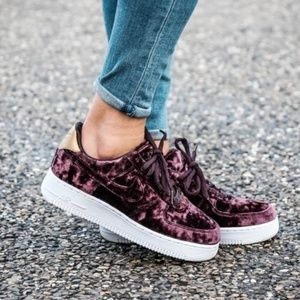 info for c73f1 08993 Nike Shoes - Nike Air Force 1  07 Premium Velvet Shoes
